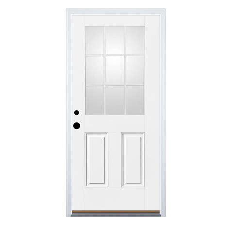 Pre Hung Exterior Doors Shop Therma Tru Benchmark Doors 2 Panel Insulating 9