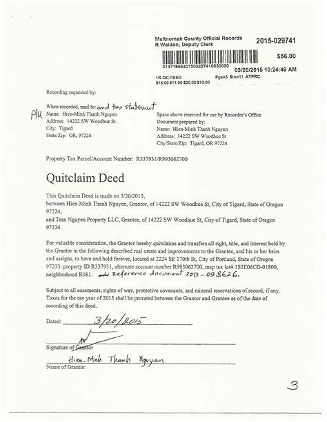 quit claim deed form free resume order quit claim