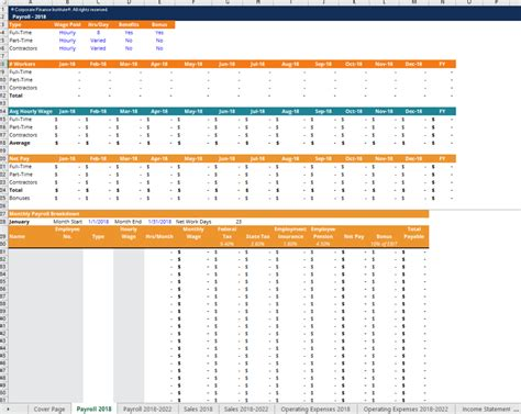 Financial Projection Template Download Free Excel Template Financial Projections Template