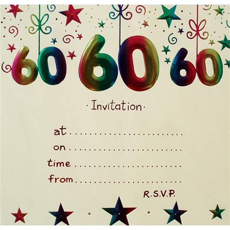 20 Ideas 60th Birthday Party Invitations Card Templates Birthday Party Invitations Templates 60th Birthday Invitation Templates Free