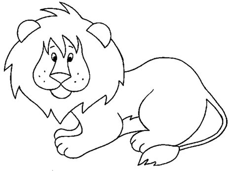 simple lion coloring page activit 233 s du mois