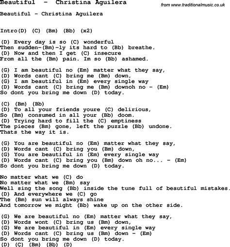 beautiful songs lyrics the 25 you are beautiful song lyrics www imagenesmy
