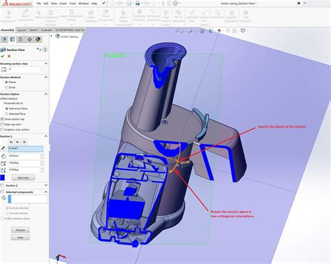 solidworks rotate section view customized solidworks section view using parallel to