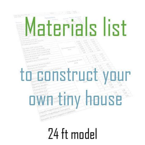 tiny house materials itemized list of materials and appliances tiny house materials list habitations micro 201 volution