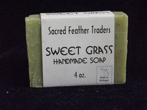 Michigan Handmade Soap - four bars of sweet grass handmade soap 4 oz bars