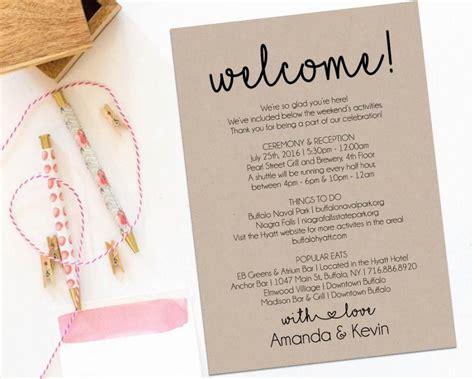 Wedding Welcome Bag Letter Sle Bridal Letter Template