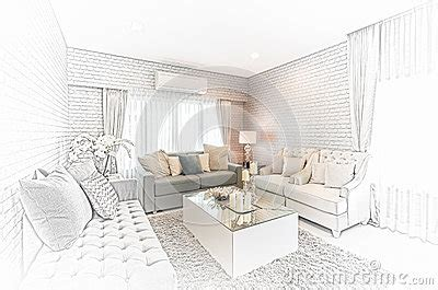 Room Interior Sketch Chair Sofa by Sketch Design Of Modern Living Room With Modern Chair And