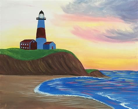paint nite island pictures paint nite montauk lighthouse