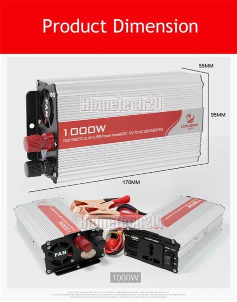 Power Bell 1000 Watt car battery power inverter dc to ac inverter converter