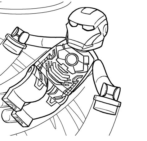free superhero lego coloring pages images pictures 24133