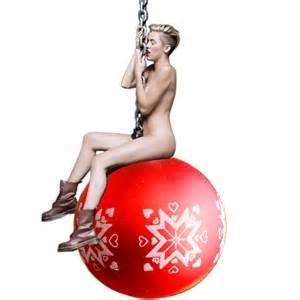 miley cyrus wrecks christmas tree l7 world