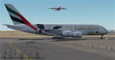 emirates usa emirates airlines united for wildlife airbus a380 800 for fsx