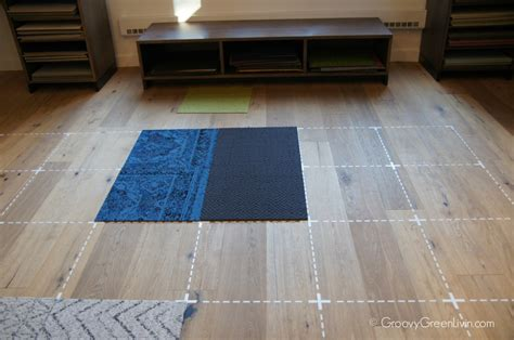 a rug out of carpet flor go green at home with recyclable carpet squares