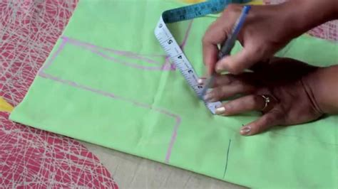 Cutting Of Saree Blouse Stitching by How To Measure And Cut Simple Blouse Part 1 Doovi