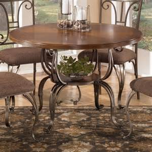 Ashley Furniture Kitchen Table by Signature Design By Ashley Plentywood Round Dining Table