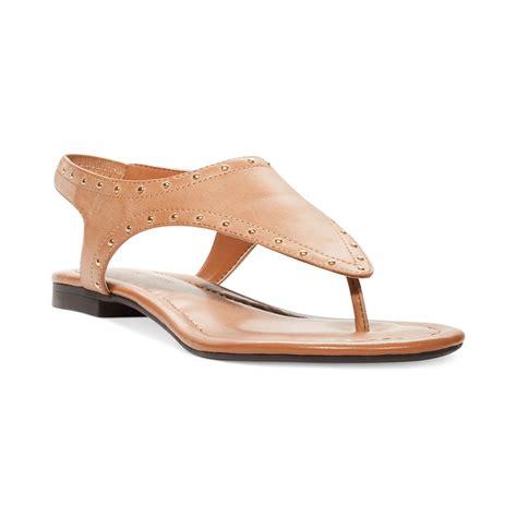 adrienne vittadini sandals adrienne vittadini cordelia flat sandals in beige
