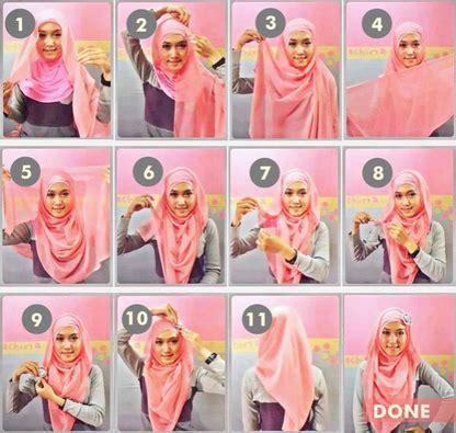 kreasi hijab modern  kerudung paris