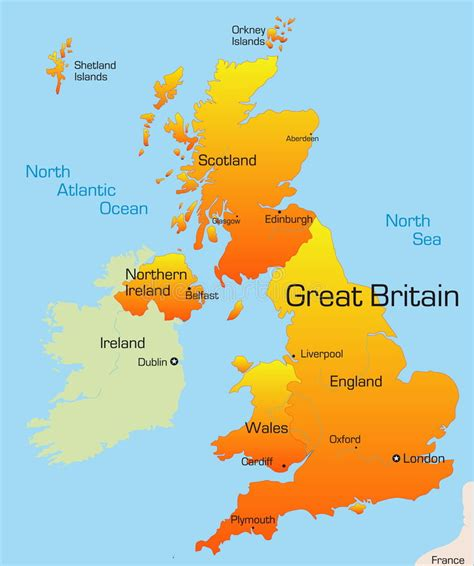 europe map great britain great britain stock vector illustration of continent