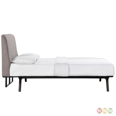 platform twin beds tracy contemporary upholstered platform twin bed cappuccino gray