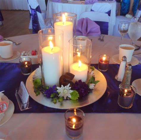centerpiece ideas to make our simple candle centerpiece weddingbee photo gallery
