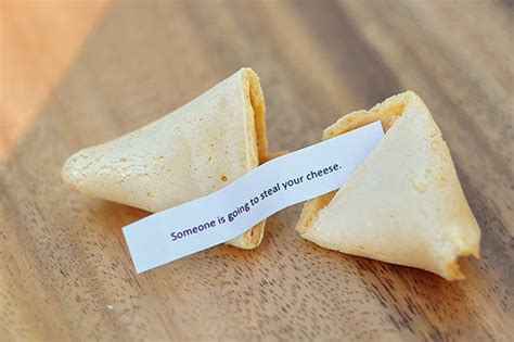 Handmade Fortune Cookies - the cheese thief store bought fortune cookies with your