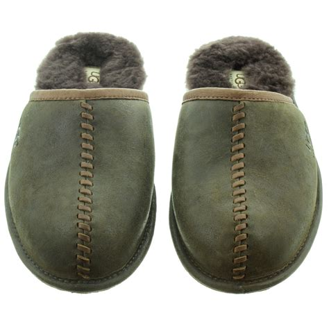 ugg scuff mens slippers ugg mens scuff deco slippers in stout in stout