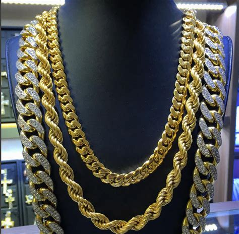 Mixed Chain Kalung three gold chains every needs simple classic style