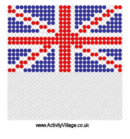united kingdom pattern united kingdom flag fuse bead pattern