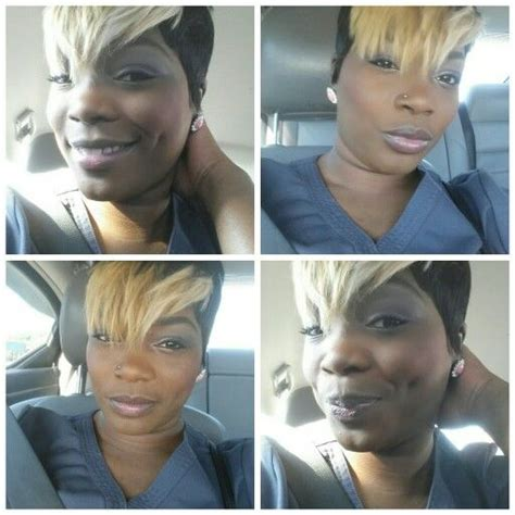 what is a 27 piece pixie quick weave 27 piece with blonde pixie bangs short cuts