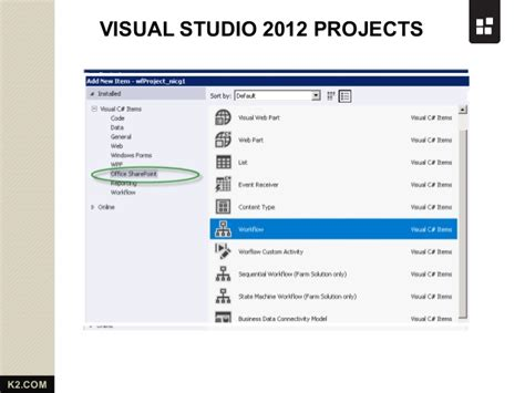 visual studio workflow sharepoint 2013 workflow from k2