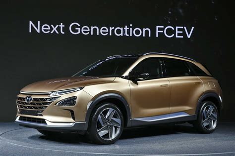 hyundai motor hyundai fcev a sneak peak at the 2018 hydrogen fuel cell suv