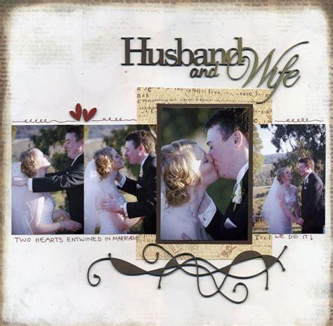 scrapbook layout ideas for engagement layout husband wife wedding layouts pinterest