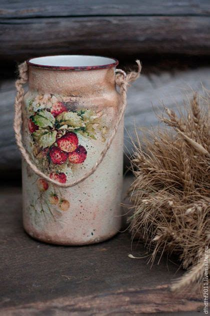 Can You Decoupage Photos - water can with decoupage