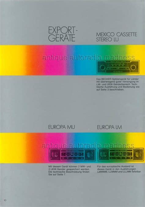 becker europa radio wiring diagram becker get free image