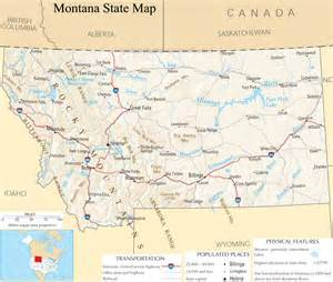 montana state map a large detailed map of montana state usa
