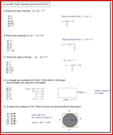 Act Science Practice Worksheets by Math Act Practice Test Project Edu Hash