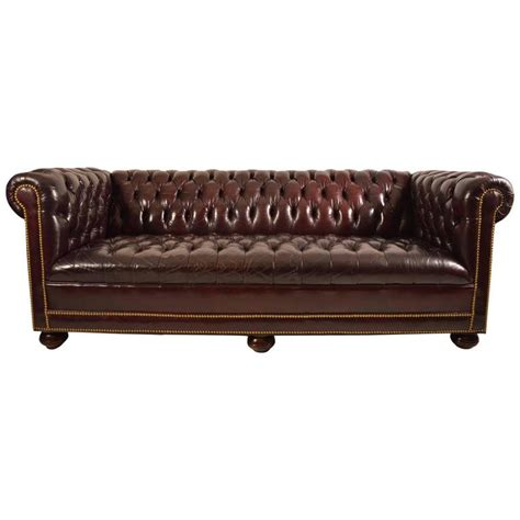 Classic Chesterfield Sofa Classic Leather Chesterfield Sofa For Sale At 1stdibs