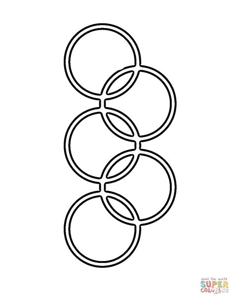 Classic Olympic Rings Coloring Online Super Coloring Olympic Rings Coloring Page