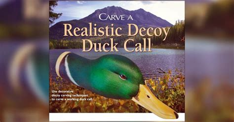 realistis duck call carving wood carving patterns