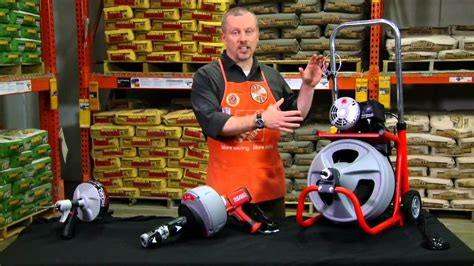 ridgid drain cleaning tools the home depot