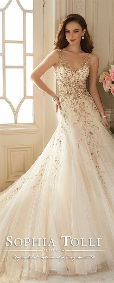 Gold Wedding Dresses Uk by White Wedding Dress With Gold Accents Dress Uk