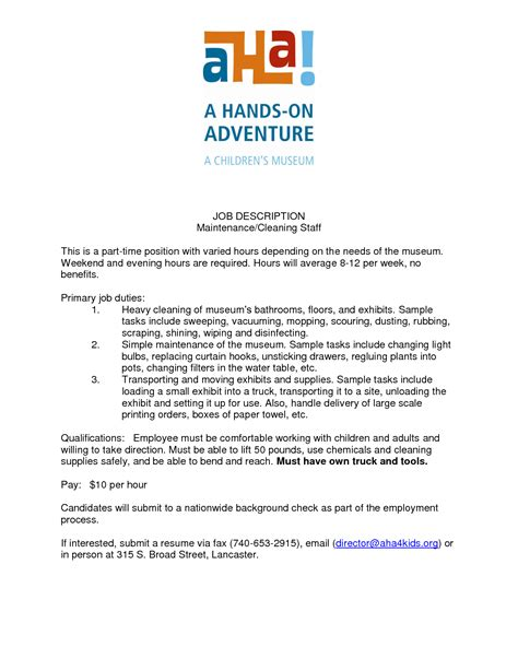 House Cleaner Resume Duties by Comfortable Cleaner Resume Duties Contemporary Resume