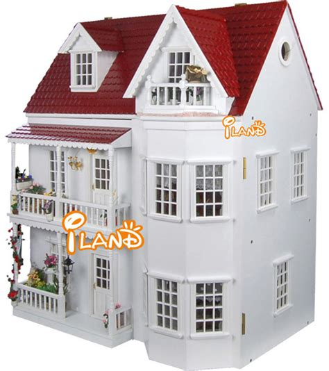 Nordic Style House 1 12 garden villa nordic style diy big doll house 3d