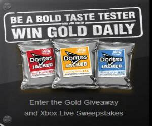 Doritos Sweepstakes - gold giveaway and xbox live sweepstakes from doritos free sweepstakes contests