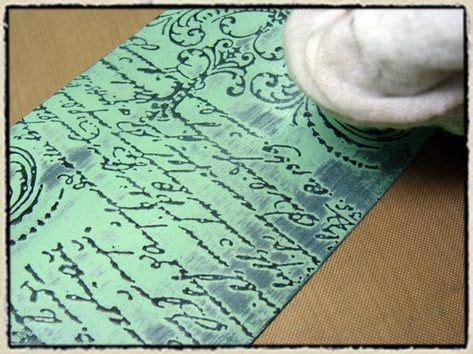 rubber st embossing tim holtz shows how to create a resist using black