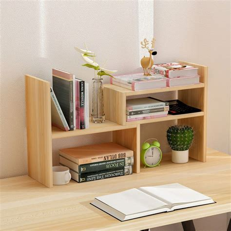 Small Desk Bookshelf Creative Computer Desk Bookshelf Simple Shelf Small Office Storage Frame Telescopic Desktop
