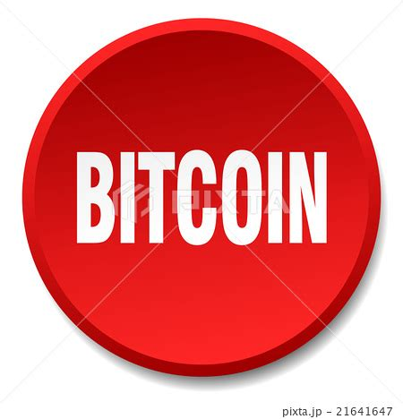 bitcoin red bitcoin red round flat isolated push buttonのイラスト素材