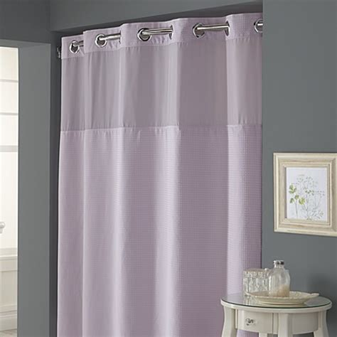 74 shower curtain liner hookless 174 waffle lavender 71 quot w x 74 quot l fabric shower