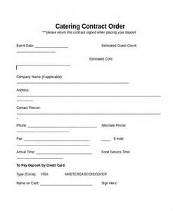 catering contract template 13 contract templates free sle exle format