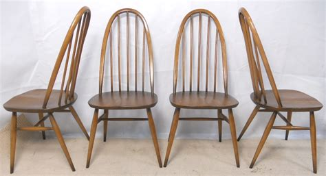 ercol bench set of four ercol high stickback golden dawn kitchen dining chairs sold